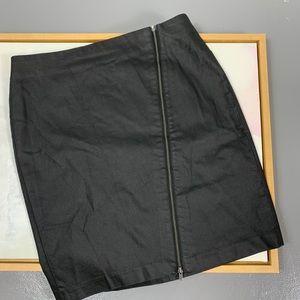 BANANA REPUBLIC assymetrical front zipper skirt